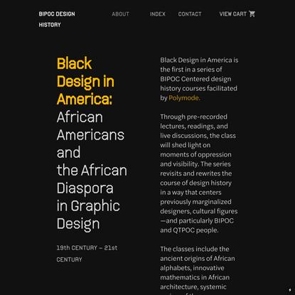 BIPOC Design History