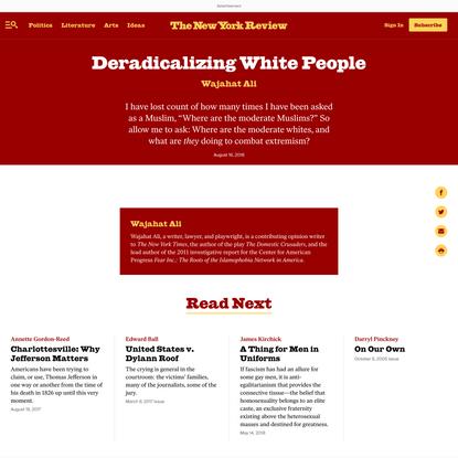 Deradicalizing WhitePeople
