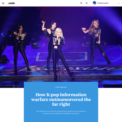 How K-pop information warfare outmaneuvered the far right - Coda Story