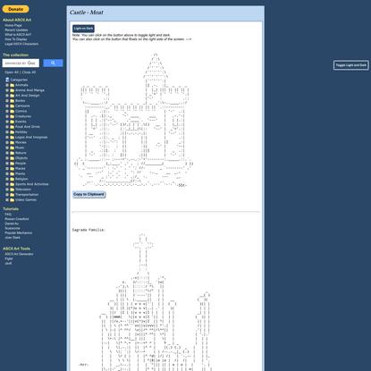 Christopher Johnson's ASCII Art Collection - Castle - Moat