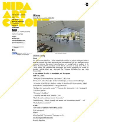 Nida Art Colony of Vilnius Academy of Arts
