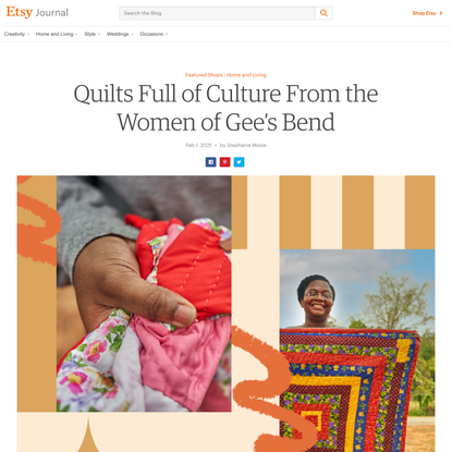 Quilts Full of Culture From the Women of Gee's Bend on Etsy
