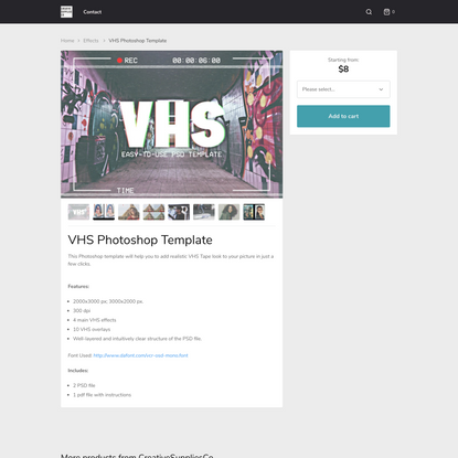 VHS Photoshop Template