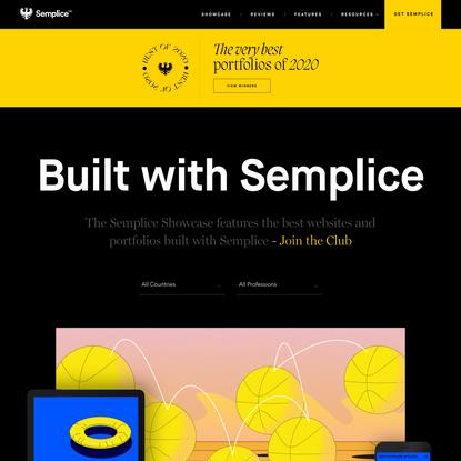 Semplice Showcase - Inspiring Design Portfolios Made with Semplice