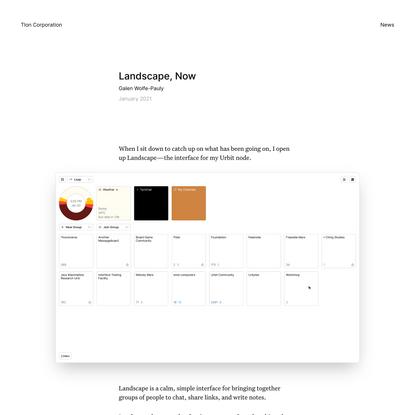 Landscape, Now - Tlon