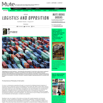 Logistics and Opposition