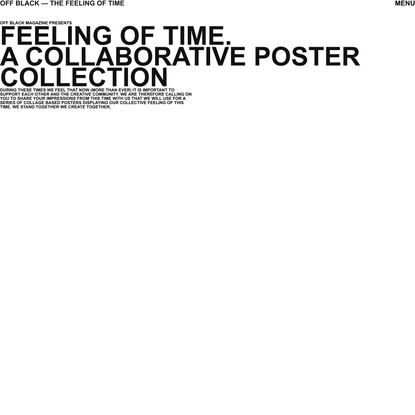 OFF BLACK MAGAZINE —The Feeling Of Time