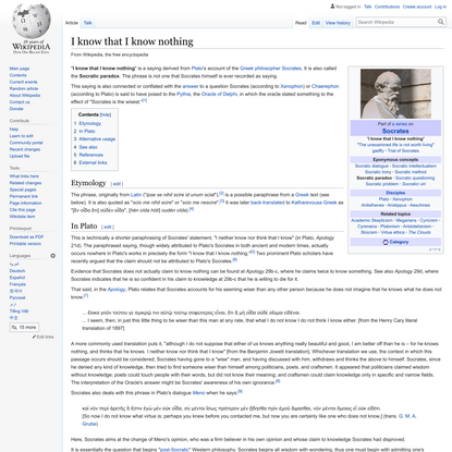 I know that I know nothing - Wikipedia