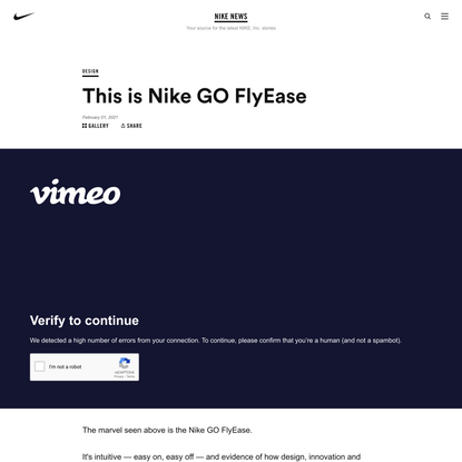 This is Nike GO FlyEase