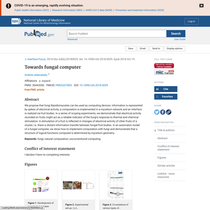 Towards fungal computer - PubMed
