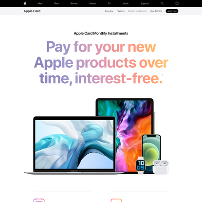 Apple Card - Monthly Installments