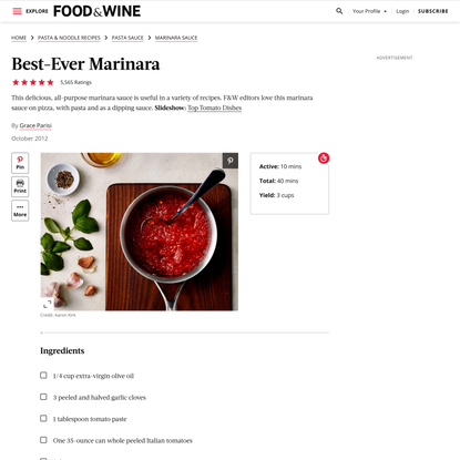 Best-Ever Marinara Recipe