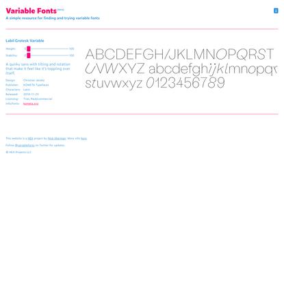 Labil Grotesk Variable – Variable Fonts
