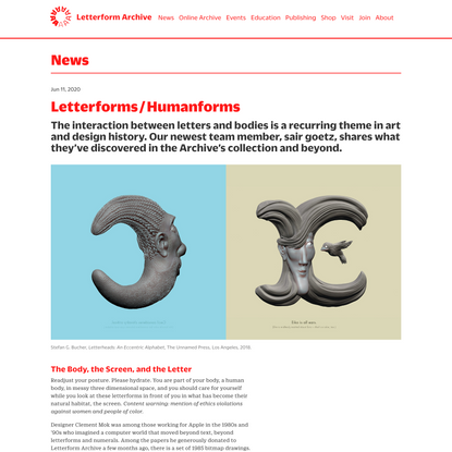 Letterforms/Humanforms
