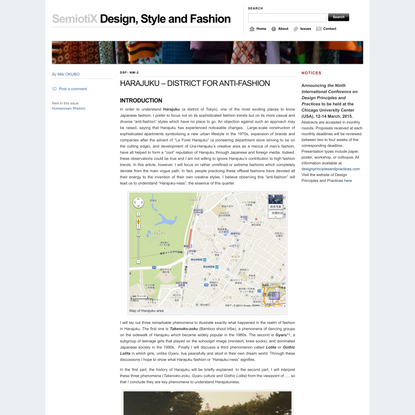 Design, Style and Fashion   HARAJUKU – DISTRICT FOR ANTI-FASHION