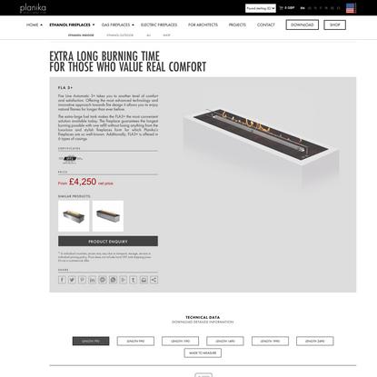 Linear Luxury Fireplace for Stylish Living FLA3+ | Planika