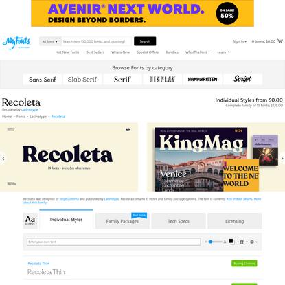 Recoleta   Webfont & Desktop font   MyFonts