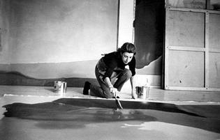 Helen Frankenthaler in her studio, 1960s