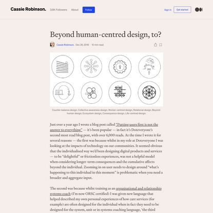 Beyond human-centred design, to?