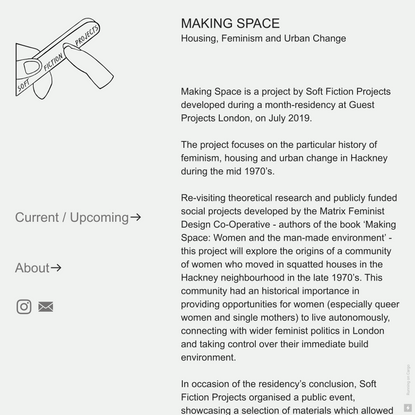MAKING SPACE — Soft Fiction Projects