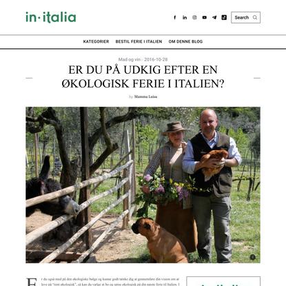 Er du på udkig efter en økologisk ferie i Italien? Så kig med her