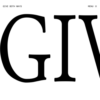 Give Both Ways
