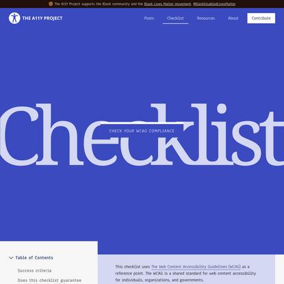 Checklist - The A11Y Project
