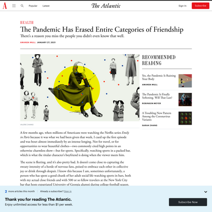 The Pandemic Has Erased Entire Categories of Friendship