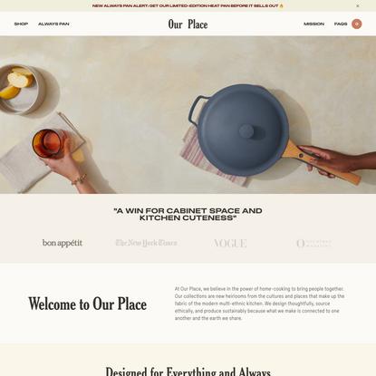 Essential Cookware & Dinnerware | Kitchen Essentials | Our Place