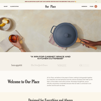 Essential Cookware & Dinnerware | Kitchen Essentials | Our Place