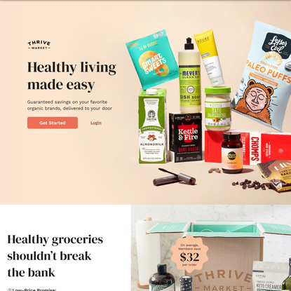 Thrive Market - Healthy living made easy