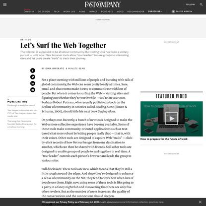 Let's Surf the Web Together
