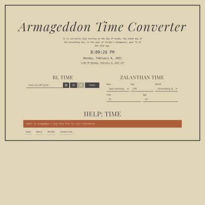 Armageddon Time Converter