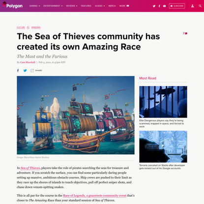 The Sea of Thieves community has created its own Amazing Race