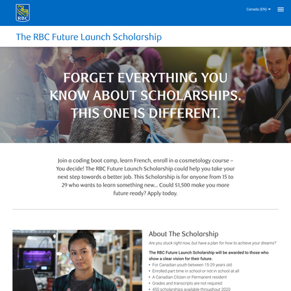 RBC Future Launch Scholarship