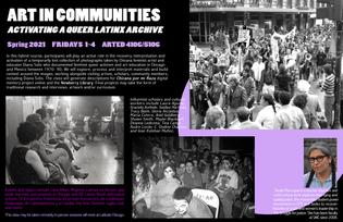 Class poster for Art in Communities 2021