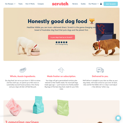 Make the switch to dog food direct from Scratch