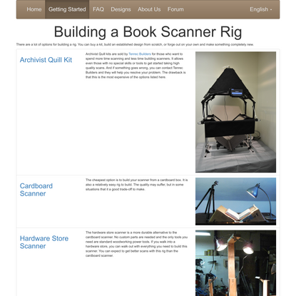 DIY Book Scanner Introduction