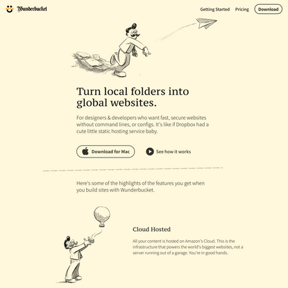 Wunderbucket: Turn local folders into global websites
