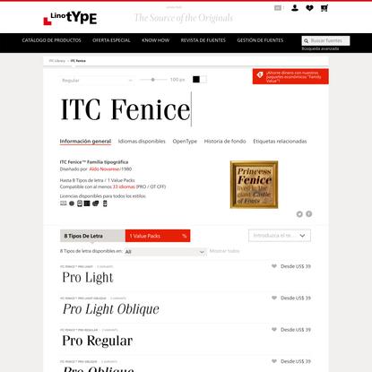 ITC Fenice™ Familia tipográfica | Linotype.com