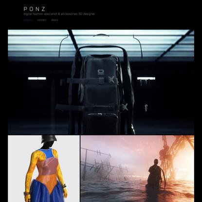 · ponz · accessories designer & 3D artist