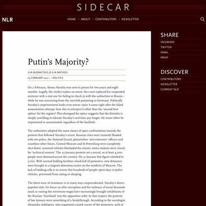 Ilya Budraitskis & Ilya Matveev, Putin's Majority? — Sidecar