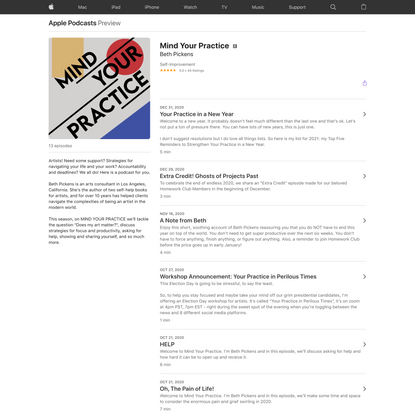 Mind Your Practice on Apple Podcasts