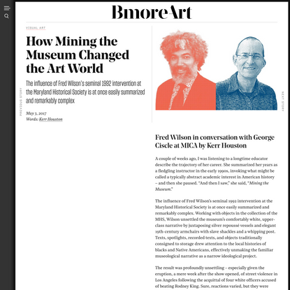 How Mining the Museum Changed the Art World - BmoreArt