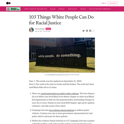 103 Things White People Can Do for Racial Justice