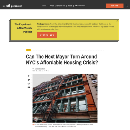 Can The Next Mayor Turn Around NYC's Affordable Housing Crisis?