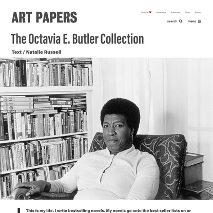 The Octavia E. Butler Collection - Art Papers