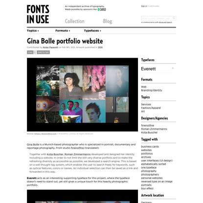 Gina Bolle portfolio website