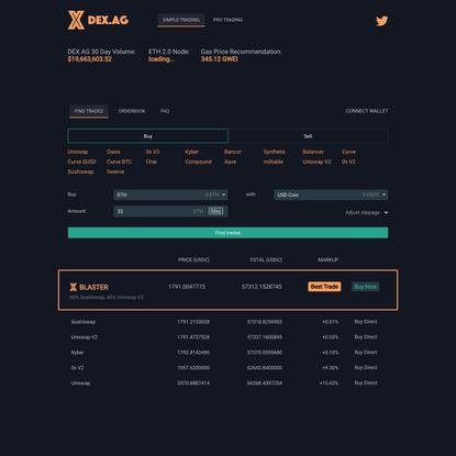 DEX.AG — Decentralized exchange aggregator