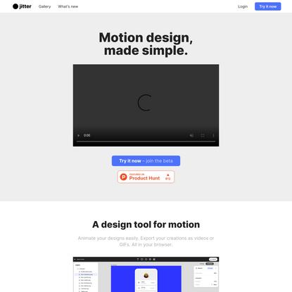 jitter • Motion design, made simple